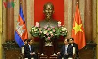 Presiden Vietnam, Tran Dai Quang menerima Menteri Senior, Menlu dan Kerjasama Internasional  Kamboja