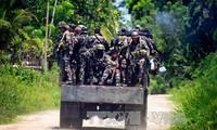 Pasukan keamanan Filipina menyerang kaum pembangkang Islam di daerah Selatan