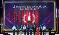 Upacara pemberian Penghargaan Pers Nasional XII tahun 2017