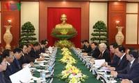 Sekjen, Presiden Laos mengunjungi Vietnam