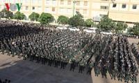 Kamboja mengadakan acara gladi bersih keamanan menjelang pemilu parlemen