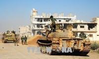 Tentara Suriah memperkuat serangan pembersihan terhadap IS