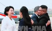 Presiden Republik Korea tiba di  RDRK untuk menghadiri pertemuan puncak yang ke-3