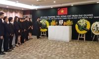 Konsulat Jenderal Vietnam di Kota Shang Hai (Tiongkok) dan Kedubes Vietnam di Polandia mengadakan acara  berziarah kepada Presiden Tran Dai Quang