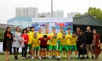 Pertandingan sepak bola persahabatan sehubungan dengan HUT ke-45 penggalangan hubungan diplomatik Vietnam-Australia