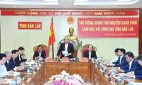 PM Vietnam, Nguyen Xuan Phuc menlakukan  temu kerja dengan pimpinan teras Provinis Dak Lak