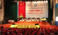 Sidang khidmat Kongres Nasional ke-10 Asosiasi Mahasiswa Vietnam