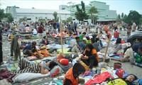 Indonesia mempercepat pembangunan rumah sementara pasca bencana ganda gempa bumi dan tsunami di Palu