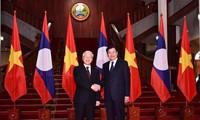 Sekjen, Presiden Vietnam, Nguyen Phu Trong melakukan pertemuan dengan para pemimpin Laos