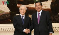Sekjen, Presiden Vietnam, Nguyen Phu Trong mengakhiri dengan baik kunjungan kenegaraan di Kamboja