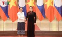 Ketua MN Vietnam, Nguyen Thi Kim Ngan melakukan temu kerja dengan Ketua Parlemen Laos, Pany Yathotou