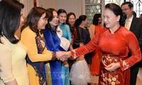Ketua MN Vietnam, Nguyen Thi Kim Ngan mengunjungi Kedutaan Besar dan bertemu dengan komunitas orang Vietnam di Kerajaan Belgia