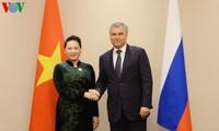 Ketua MN Vietnam, Nguyen Thi Kim Ngan melakukan pertemuan  kepada Ketua Duma Negara Rusia, Vyacheslav Volodin