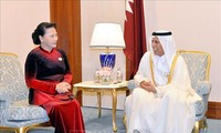 Ketua MN Vietnam, Nguyen Thi Kim Ngan melakukan pertemuan Ketua Dewan Shura (Parlemen) Qatar