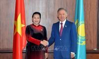Ketua MN Vietnam, Nguyen Thi Kim Ngan melakukan pertemuan dengan Ketua Majelis Rendah Kazakhstan, Nurlan Nigmatulin