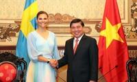 Pemimpin Kota Ho Chi Minh menerima Puteri Mahkota Kerajaan Swedia