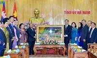 Ketua Parlemen Kerajaan Kamboba melakukan temu  kerja di Provinsi Ha Nam