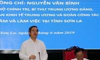 Kepala Departemen Ekonomi KS PKV, Nguyen Van Binh melakukan temu kerja dengan pimpinan Provinsi Son La