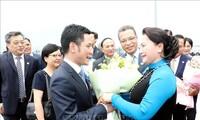 Ketua MN Vietnam, Ibu Nguyen Thi Kim Ngan tiba di Jiangsu, memulai kunjungan resmi di Tiongkok