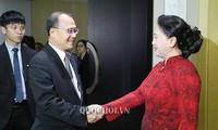Ketua MN Vietnam, Ibu Nguyen Thi Kim Ngan menerima wakil beberapa badan usaha Tiongkok