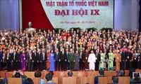 Acara penutupan Kongres Nasional ke-9 Front Tanah Air Vietnam