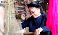 Kerajinan menenun kain ikat dari etnis minoritas Tay di Provinsi Cao Bang