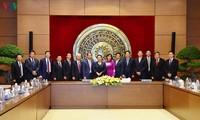 Ketua MN Vietnam, Ibu Nguyen Thi Kim Ngan menerima para Kepala Perwakilan Diplomatik  di luar negeri untuk masa bakti 2019-2022