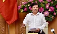Deputi PM Vietnam, Trinh Dinh Dung memimpin sidang Badan Pengarahan IUU