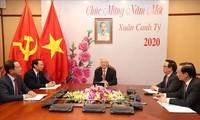 Tilgram ucapan selamat sehubungan dengan peringatan HUT ke-70 penggalangan hubungan diplomatik Vietnam-Tongkok