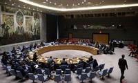 DK PBB mengadakan sidang tentang recana perdamaian Timur Tengah dari AS