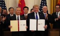 AS dan Tiongkok mencapai kemajuan dalam melaksanakan permufakatan dagang tahap I