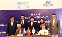 PBB dan Grup Sovio menandatangani permufakatan untuk membantu Kota Ha Noi menjadi kota kreatif