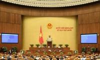 MN membahas rancangan resolusi mengenai pemerintahan perkotaan di Kota Ho Chi Minh dan mengesahkan resolusi mengenai personalia