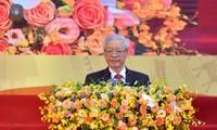 Sekjen, Presiden Negara Nguyen Phu Trong: Mengkombinasikan kekuatan bangsa dengan kekuatan zaman dalam pekerjaan diplomasi rakyat