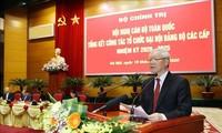 Sekjen, Presiden Vietnam, Nguyen Phu Trong Memimpin Konferensi Evaluasi Pekerjaan Penyelenggaraan Kongres Organisasi Partai Komunis Berbagai Tingkat