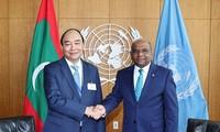 Presiden Nguyen Xuan Phuc Terima Ketua MU PBB dan Sekjen PBB