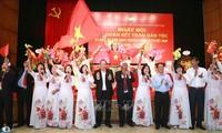 Truong Hoà Binh à la fête de la grande union nationale du quartier Trân Hung Dao (Hanoï)