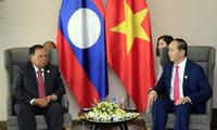 Tran Dai Quang rencontre Bounnhang Vorachith, Hun Sen et Moon Jae-in