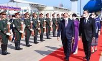 President Nguyen Xuan Phuc arrives in Vientiane, beginning Laos visit