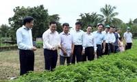 Deputi PM Vuong Dinh Hue melakukan temu kerja di Provinsi Dien Bien