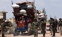 Suriah: Kira-kira 300 kaum pembangkan datang kawasan mengurangi ketegangan