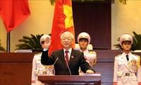 Pemimpin negara-negara menyampaikan tilgram ucapan selamat kepada Sekjen KS PKV, Nguyen Phu Trong dipilih memangku jabatan  sebagai Presiden Negara