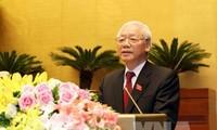 Media internasional mebuat berita secara menonjol Sekjen KS PKV, Nguyen Phu Trong dipilih memangku jabatan  sebagai Presiden Negara
