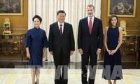 Presiden Tiongkok melakukan kunjungan resmi di Spanyol