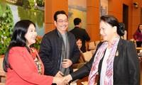 Ketua MN Viet Nam, Nguyen Thi Kim Ngan melakukan temu muka dengan pemimpin dan wartawan dari berbagai kantor pemberitaan dan pers