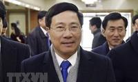 Deputi PM, Menlu Vietnam, Pham Binh Minh melakukan kunjungan resmi di RDRK