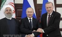 Presiden Rusia bersama dengan Turki dan Iran ingin menyusun rencana aksi bersama di Suriah