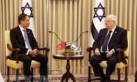 Dutar Besar Viet Nam, Do Minh Hung menyampaikan surat mandat kepada Presiden Israel