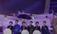Upacara peringatan 10 tahun Lagu Rakyat Quan Ho yang diakui oleh UNESCO sebagai pusaka budaya nonbendawi yang mewakili umat manusia