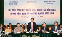 Meningkatkan lebih lanjut lagi hasil-guna pekerjaan diplomatik pada tahun 2019